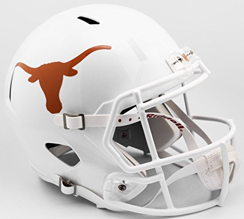 (Riddell NCAA Texas Longhorns Helmet Full Size ReplicaHelmet Replica Full Size Speed Style 2017 Design, Team Colors, One Size)