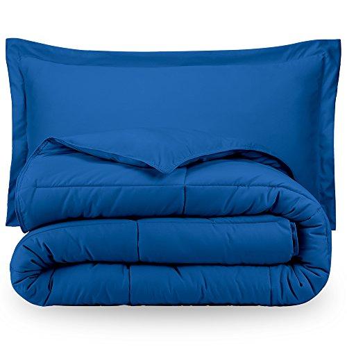 Bare Home Ultra-Soft Premium 1800 Series Goose Down Alternative Comforter Set - Hypoallergenic - All Season - Plush Fiberfill, Twin Extra Long (Twin XL, Medium Blue)
