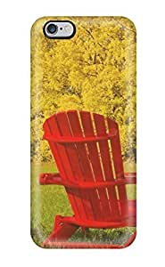 High Quality KcOBAIN17132kSyQi Red Lawn Chairs Photography Autumn People Photography PC Case Cover For Apple Iphone 4/4S