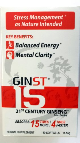 GINST-15 21ST CENTURY GINSENG (30 SOFTGELS X485gm) Review