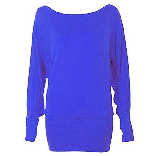 Kaaya - Camiseta de manga larga - para mujer Multicolore - Royal/Electric Blue