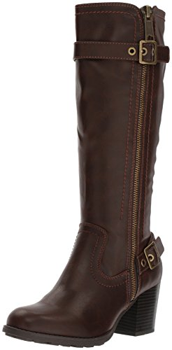 Knee Closed Brown Dover High Fashion Toe Womens White Mountain Boots Dark qtXvB