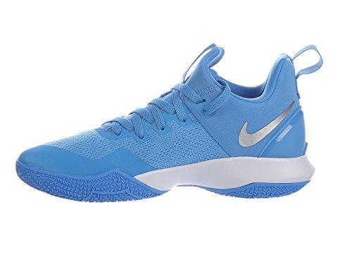 on sale 97a08 5907a Nike Hommes Zoom Shift Chaussures De Basket En Nylon Côte   Argent  Métallique   Blanc ...