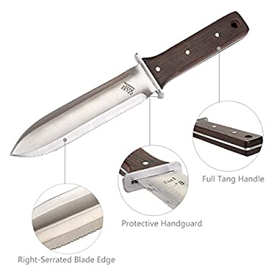 Zelar Made Garden knife Ideal Gardening Multipurpose Tool,Stainless Steel Trowel Perfect for Gardening Lanscaping Digging Weeding