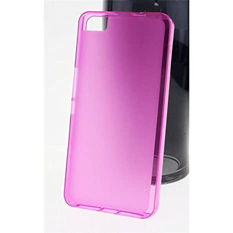 LASTIOFFER Bq Aquaris M5 Transparent TPU Gel Cover mit Pink Rand Für Silikon Ultradünn - Ultrafein