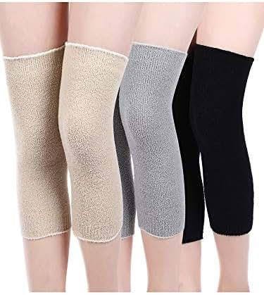 3 Pairs Leg Warmers Fabric Knee Brace Knee Pads Warm Thermal Knee Sleeves for Women