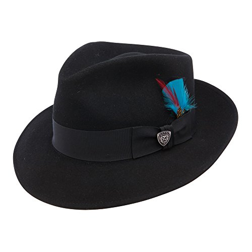 Stetson and Dobbs DWSTND-1022 Men's Strand Dress Hat, Black - 7 1/2 from Dobbs and Stetson