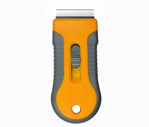 Retractable Razor Blades Scraper for Window Film Glass Glue Removing w 5pcs Replaceable Razor - Scraper Holder Blade