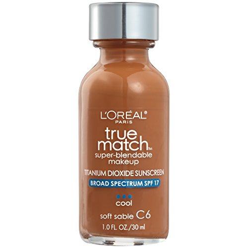 L'Oréal Paris True Match Super-Blendable Foundation Makeup, Soft Sable, 1 fl. - For Summer Best Skin Colors Tone