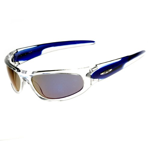 X-Loop Eyewear - X-Loop Brand Two-Tone Wraparound Sports Sunglasses - Brand Eyewear X