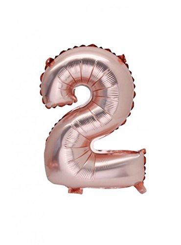 Artifete 1 balón rosa Gold - Número 2: Amazon.es: Hogar