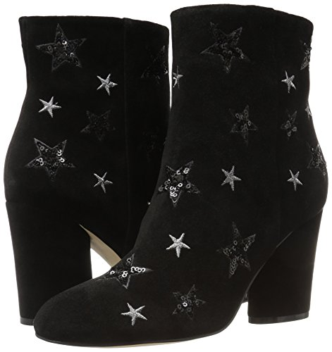 The Fix Women's Nash Star Sequin Oval Heel Ankle Bootie, Black, 8 B US by The Fix (Image #5)