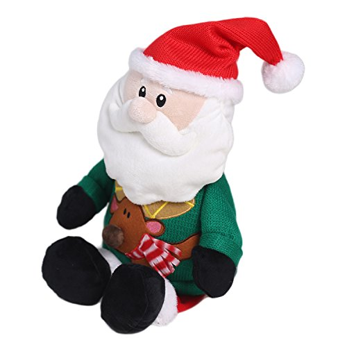 Soft Stuffed Animal Father Christmas Plush toy Home Decorations Festival Birthday Gift for kids 21 inches by HollyHOME (Christmas Stuffed Animals)