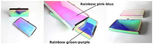 Flada - Cartera de mano para mujer talla única, Rainbow Greenpurple (verde) - U-98 Rainbow Greenpurple