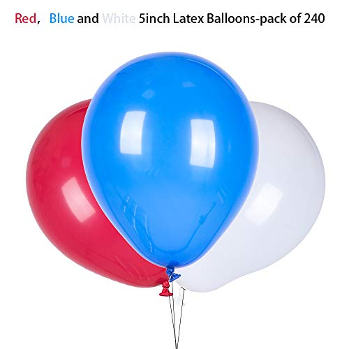 Red and White and Blue Helium Balloons Helium Balloons