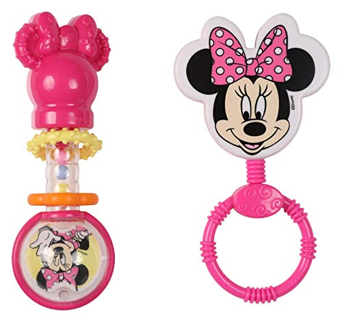 Disney Minnie Mouse Combo Pack Character & Barbell Rattle, Minnie ()