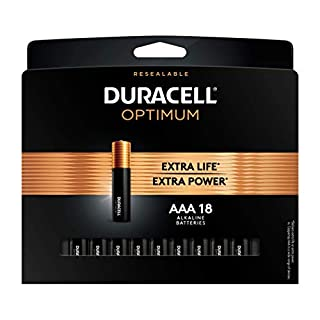 Duracell Optimum AAA Batteries | 18Count Pack | Lasting Power Triple A Battery | Alkaline AAA Battery Ideal for Household and Office Devices | Resealable Package for Storage