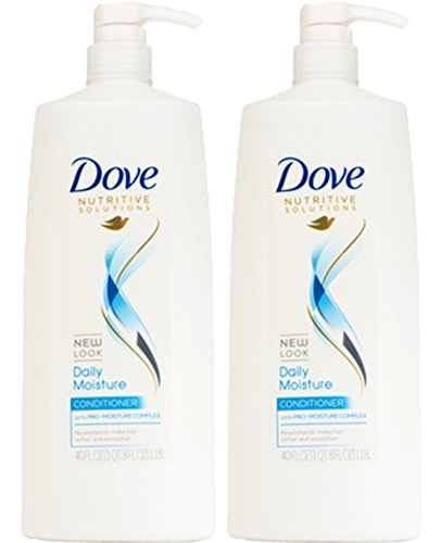 Dove Daily Moisture Therapy Conditioner, Dry/Rough Hair, 40 Ounce (Pack of 2)