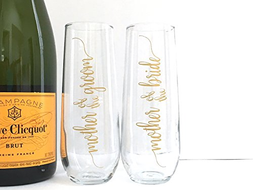 Mother Of The Groom Gift: Mother Of The Bride And Groom Champagne Flutes Set