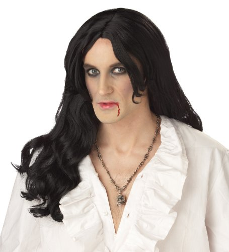 Black Vampire Wig - California Costumes Men's Old World Vampire Wig,Black,One Size
