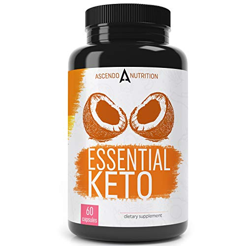 Keto Pills with MCT Oil, 7-Keto DHEA, and Exogenous BHB Ketones - Ketogenic Diet Supplement and Appetite Suppressant for Women and Men - Healthy Sustained Energy in Ketosis - 60 Capsules