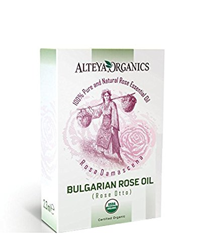 100% Pure USDA Organic Essential Bulgarian Rose Oil (REAL Rose Otto) - 2.3ml / 0.07fl.oz, From Alteya's Rose Distillery, Finest Quality by Alteya Organics