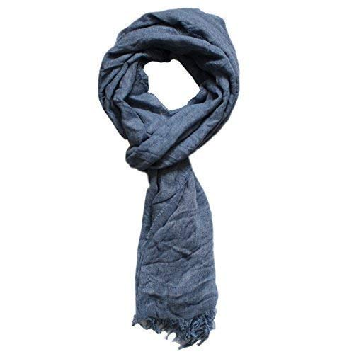 HUGO BOSS Unisexe Souple écharpe plissée  elorio  Mélange cachemire  exclusif Italien Tissu bleu foncé bf3536c1a35