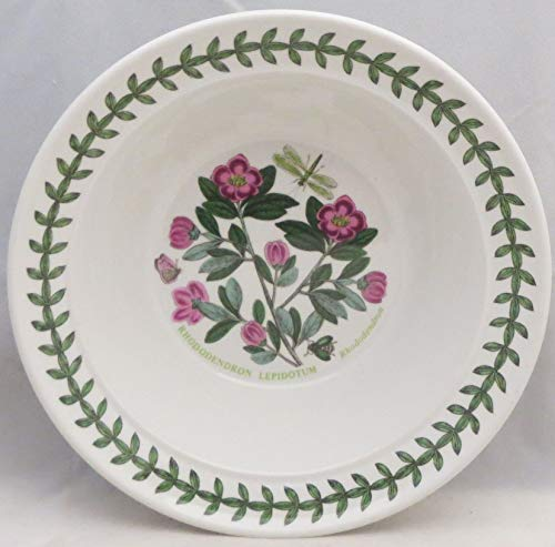 Portmeirion Botanic Garden Rim Cereal/Oatmeal Bowl (Rhododendron)