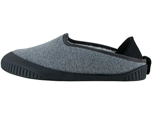 Dualyz Kush Classic Slipper Light Grey With Black Removable Sole