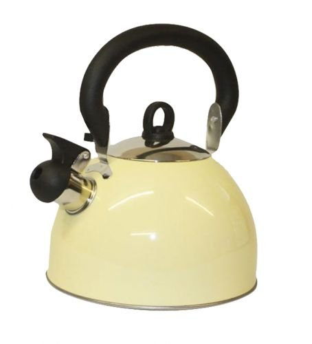 Prima 2.5L Stainless Steel Whistling Kettle in Cream 11124C by Prima...