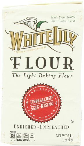 White Lily Unbleached Self Rising Flour, 5-lb bag (Free Flour Fat)