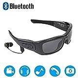 Wearable Bluetooth Sunglasses Camera Glasses Mini DV Video Recorder Bluetooth Headphone Handsfree Driving Glasses Sport Cycling Sunglasses