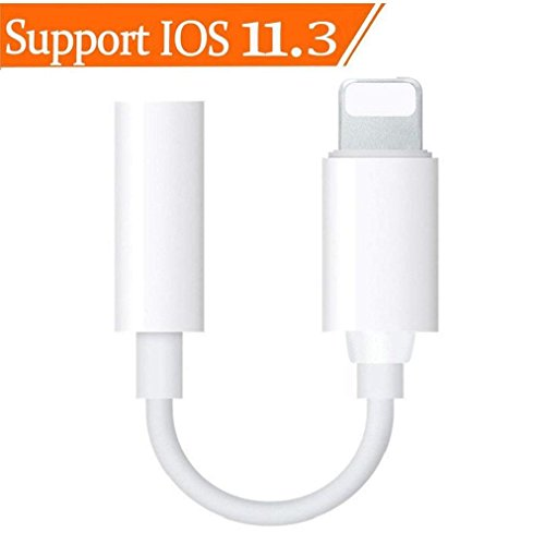 Lightning to 3.5mm Headphone Jack Adapter for iPhone 7/7Plus iPhone X/10 iPhone 8/8 plus iPad iPod, Headphone Earphone Jack Audio Adapter Dongle Charger【Call +Audio】 Support IOS11.3/10.2 or Later … … (Ipod Best Bluetooth Adapter)