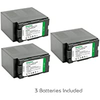 Kastar Battery (3-Pack) for Panasonic CGR-D54S, CGA-D54S, VSK0581 work with Panasonic AG-3DA1, AG-AC90, AG-DVC30, AG-DVC32, AG-DVC33, AG-DVC60, AG-DVC62, AG-DVC63, AG-DVC80, AG-DVC180, AG-DVX100, AG-DVX102, AG-HPX170, AG-HPX250, AG-HPX255, AG-HVX200, AJ-PCS060G, AJ-PX270PJ, HDC-Z10000, NV-DS29, NV-DS30, NV-DS50, NV-GX7, NV-MX5, NV-MX350, NV-MX500, NV-MX1000, NV-MX2500, NV-MX5000, AG-HRX200