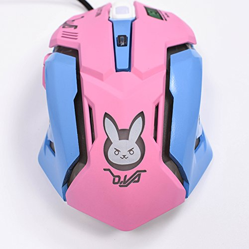 41kqvodKQ9L - Gaming-Mouse-Backlit-Optical-Game-Mice-Ergonomic-USB-Wired-with-2400-DPI-and-6-Buttons-4-Shooting-for-Pro-Game-PC-Computer-Laptop-Desktop-Mac-DVA-Pink