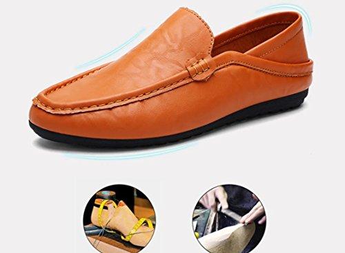 Hommes Main D'affaires Cuir Des Jaune De Marche Shopping Style muti Elwow Pantoufles Pu Britannique Plates Chaussures Chaussures En Doublure Utilisation Mode Dame ExPCW8qwY