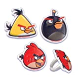 Angry Birds Cupcake Rings - 24 ct