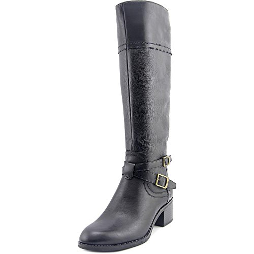 Franco Sarto Womens Lapis Wide Calf Boot,Black Safari Crust Leather/Cairo Leath
