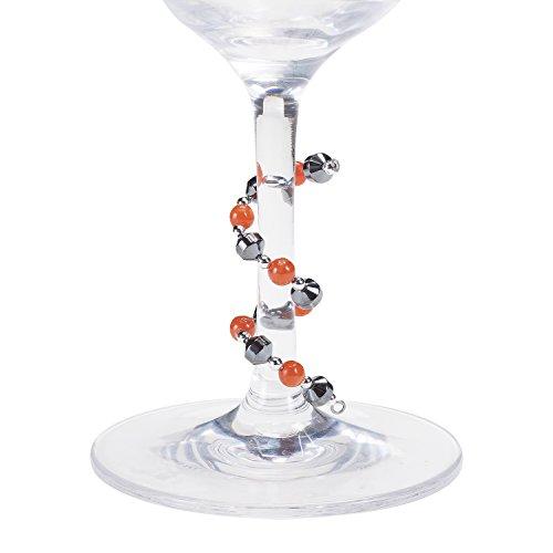 Oenophilia Wine Glass Stem Bangles, Bohemian - Set of 4