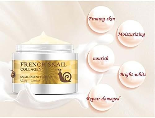Exteren Snail Repair Anti-aging Cream Collagen Moisturizing Repair Hyaluronic Acid Cream Face Cream Face Moisturizers Facial Creams (White)