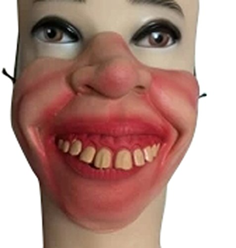 Halloween Half Face Mask Latex Mask Performances Funny April Fools-dog Face (N)