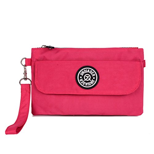 TianHengYi - Borsa a tracolla donna, Rosso (rosa), Small