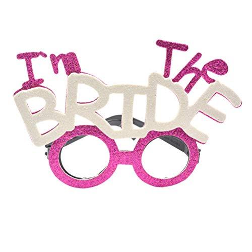 Amosfun Halloween Eyeglass I'm The Bride Glasses Hollow Eyewear Fancy Dress Props