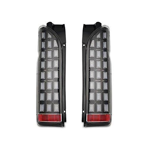 流れるウインカー ハイエース レジアスエース 200系 シーケンシャルウインカー LED テールランプ H16~ (インナーブラック クリアレンズ) B07BZ69Q1K インナーブラック クリアレンズ インナーブラック クリアレンズ
