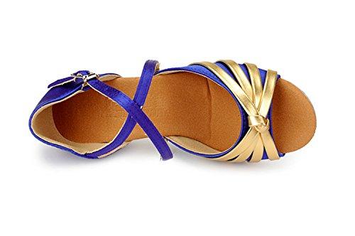 Miyoopark - salón chica Blue/Gold-3.5cm Heel