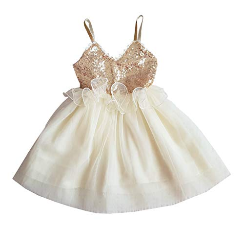 Gold Sequin Dress Cake Smash Outfit for Baby