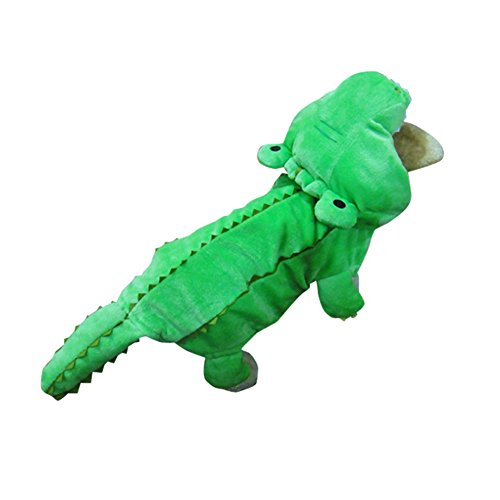 [Lifeunion Funny Creative Cute Pet Crocodile Costume with Hood Double Thick Flannel for Small Dogs Cats Outfit Winter Coat Warm Apparel Jacket] (Star Wars Halloween Costumes For Dogs)