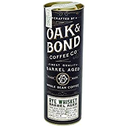 Rye Whiskey Barrel Aged Coffee – Whole Bean Coffee, Costa Rica Single Origin Whole Bean Coffee Aged in Rye Whiskey…