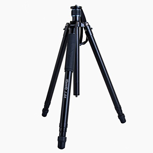 FotoPro F-64 iSpeedy Aluminum Quick Extend Tripod, Holds 33 Lbs, Extends to 5.4', Folds to 20'' by FotoPro