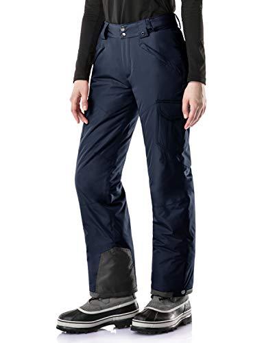Tesla TM-XKB92-NVY_Medium Women's Cargo Snow Pants Windproof Ski Insulated Water-Repel Bottoms XKB92